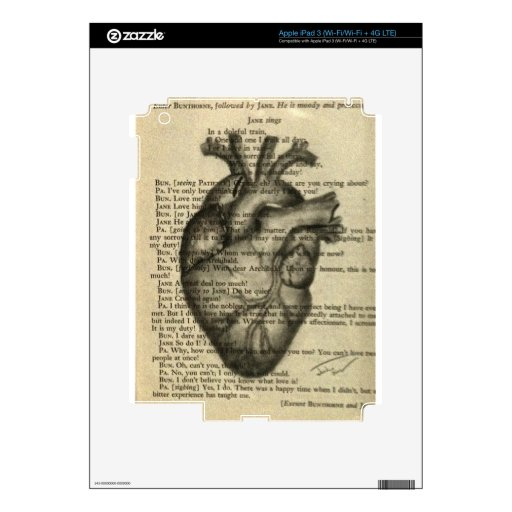 corazón anatómico iPad 3 skins