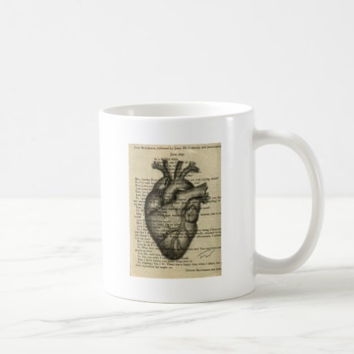 corazón anatómico taza