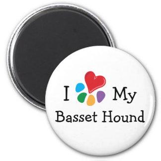 Corazón animal de Lover_I mi Basset Hound Iman De Frigorífico