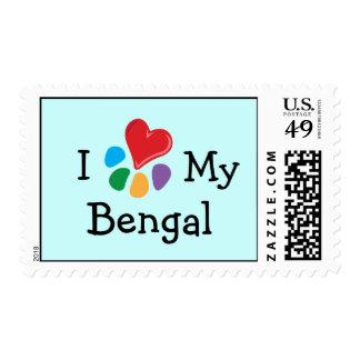 Corazón animal de Lover_I mi franqueo de Bengala