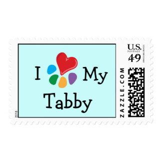 Corazón animal de Lover_I mi franqueo del Tabby