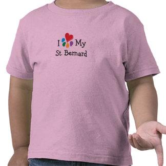 Corazón animal de Lover_I mi St Bernard Camisetas