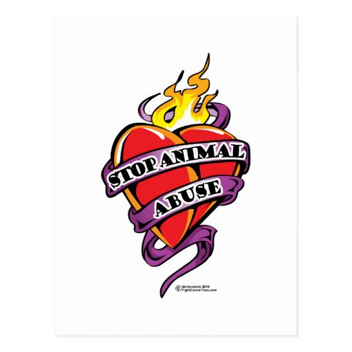 Corazón animal del tatuaje del abuso postal