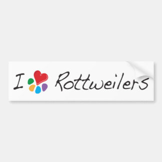 Corazón animal Rottweilers de Lover_I Pegatina Para Auto