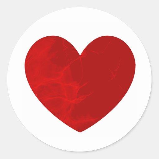 Corazón apasionado pegatina redonda