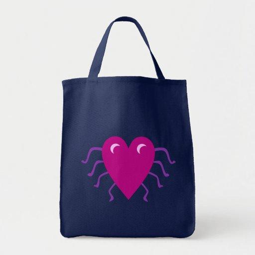 Corazón araña heart spider aquel spi bolsas lienzo