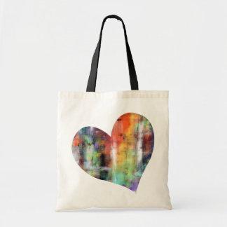 Corazón artístico bolsa de mano