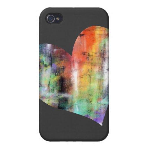 Corazón artístico iPhone 4/4S carcasas