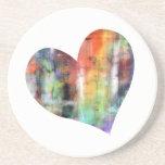 Corazón artístico posavasos personalizados