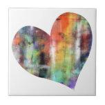 Corazón artístico teja