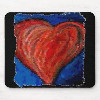Corazón artsy fresco enrrollado - mousepad románti