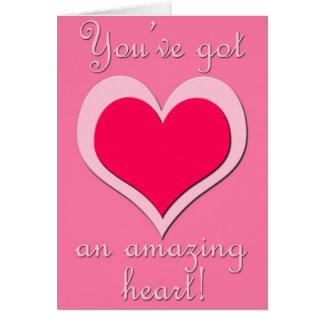 Corazón asombroso (el día de San Valentín) Tarjeta De Felicitación