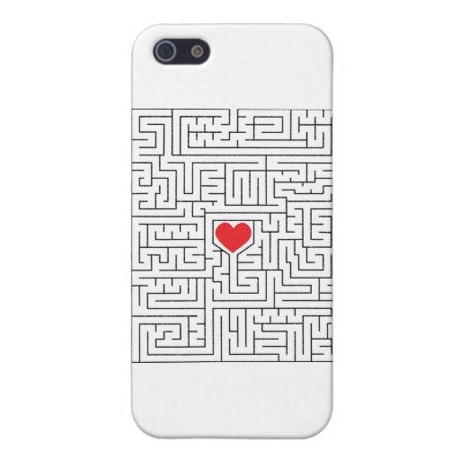 Corazón asombroso iPhone 5 fundas