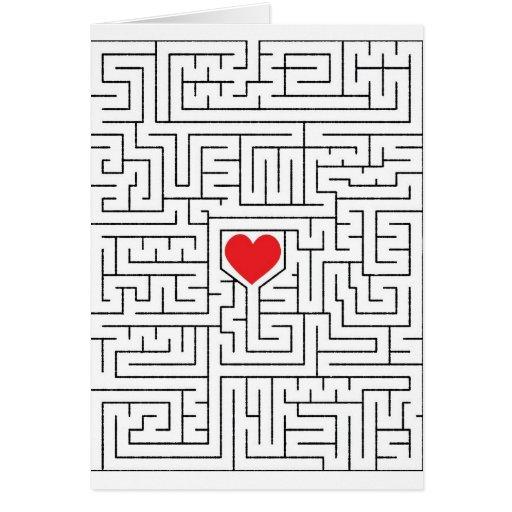 Corazón asombroso tarjeta de felicitación