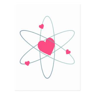 Corazón atómico postal