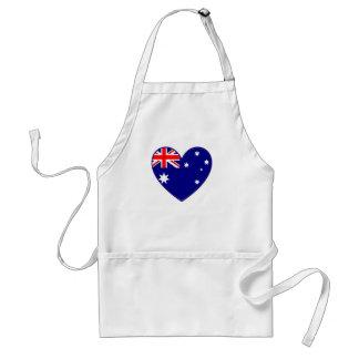 Corazón australiano delantal