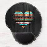 Corazón azteca alfombrilla con gel
