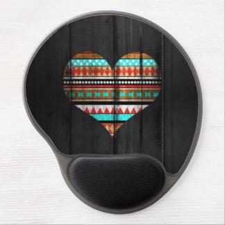 Corazón azteca alfombrilla de ratón con gel