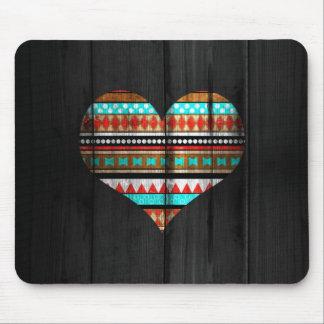 Corazón azteca alfombrilla de ratones