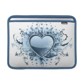 """Corazón azul 13"""" de Emo manga de MacBook Fundas MacBook"""