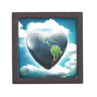 Corazón azul cajas de regalo de calidad