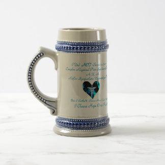 Corazón azul de CRPS RSD de llamas elijo esperanza Tazas De Café