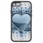 Corazón azul de Emo Funda De iPhone 6 Tough Xtreme