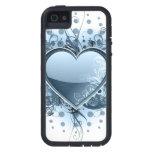 Corazón azul de Emo iPhone 5 Case-Mate Protectores