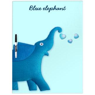 corazón azul del elefante pizarras