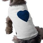 Corazón azul. Diseño modelado del corazón Camisetas De Perro