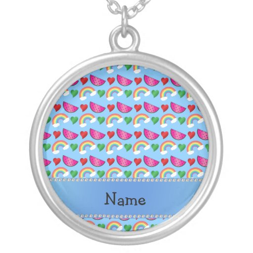 Corazón azul en colores pastel conocido de encargo collar personalizado