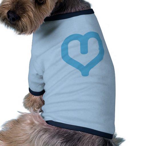 corazón-azul gráfico ropa de mascota