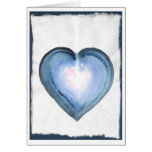 Corazón azul místico tarjetón