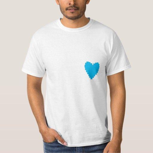 corazón azul remeras