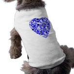 Corazón azul y blanco. Diseño modelado del corazón Camisa De Mascota