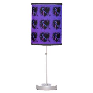 Corazón azul y púrpura del Grunge de la cinta Lámpara De Mesilla De Noche