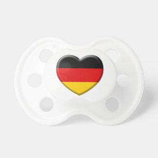 Corazón bandera Alemana me gusta Alemania Chupete De Bebé