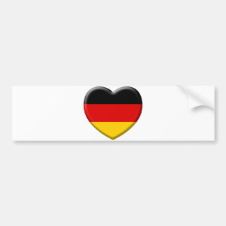Corazón bandera Alemana me gusta Alemania Pegatina Para Auto
