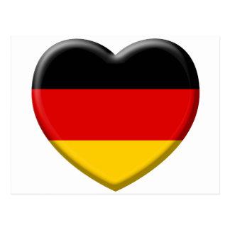 Corazón bandera Alemana me gusta Alemania Postales