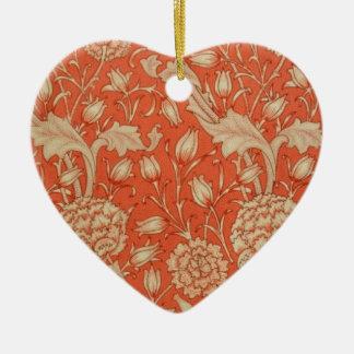 Corazón Beige&Apricot de cerámica del modelo de Adorno Navideño De Cerámica En Forma De Corazón