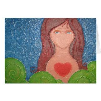Corazón bendecido tarjeta de felicitación