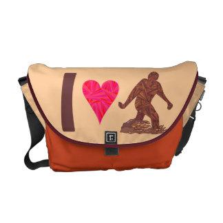 Corazón Bigfoot de Bigfoot Sasquatch Yeti Cryptid Bolsa De Mensajería