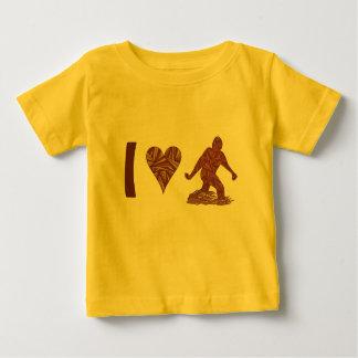 Corazón Bigfoot de Bigfoot Sasquatch Yeti Cryptid Polera