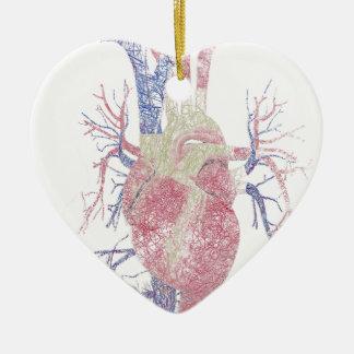 Corazón (Biro) Adorno Navideño De Cerámica En Forma De Corazón