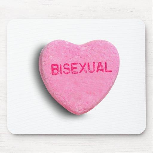 Corazón bisexual del caramelo tapetes de ratón