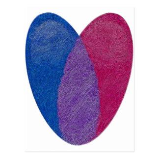 Corazón bisexual postales