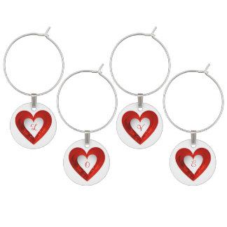 Corazón blanco del el día de San Valentín en el Identificadores De Copas