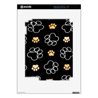 Corazón blanco negro de la impresión de la pata calcomanías para el iPad 2