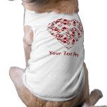 Corazón blanco y rojo. Diseño modelado del corazón Camisetas Mascota