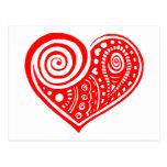 Corazón /blk de Paisley Postal